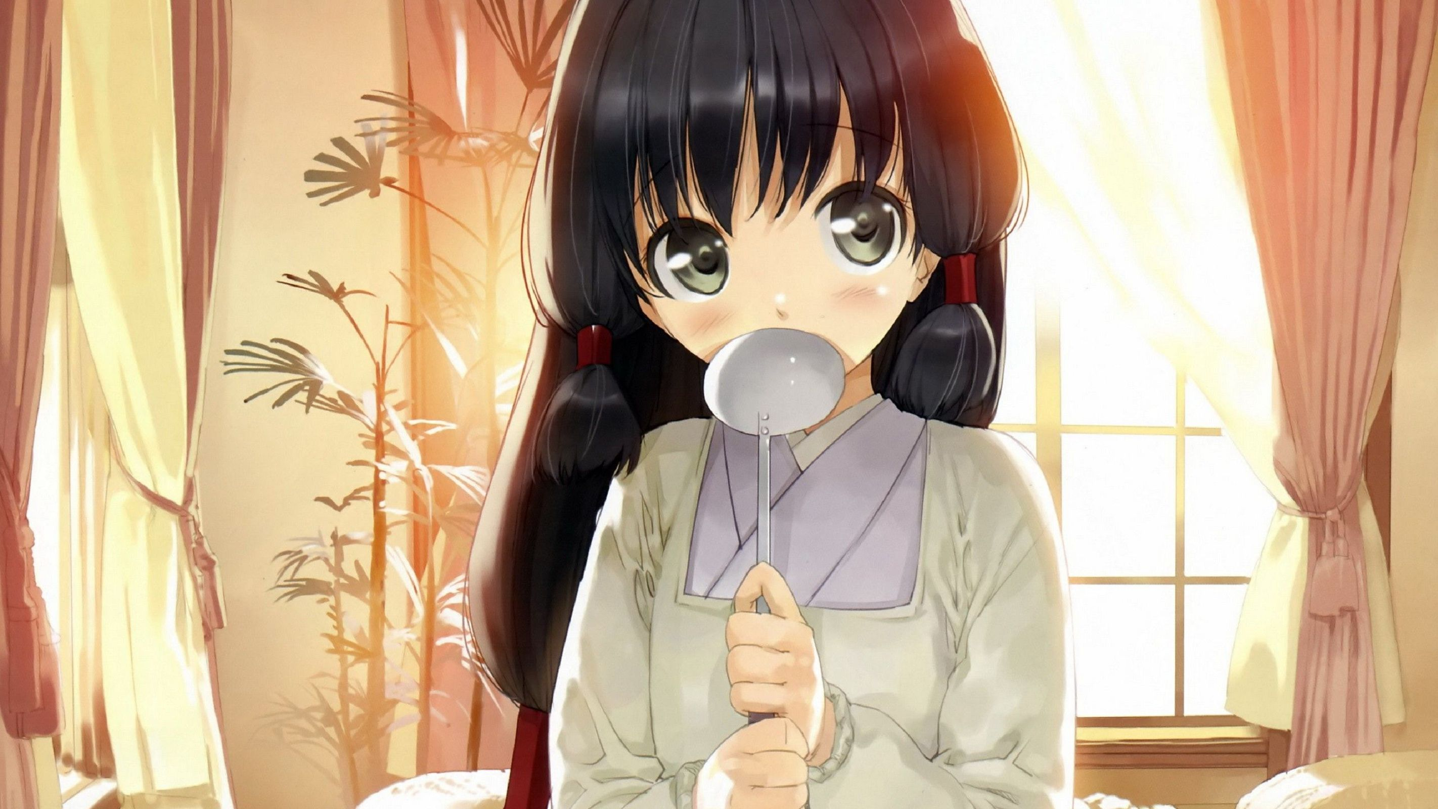 Anime, Girl, Spoon - Fonds d'écran