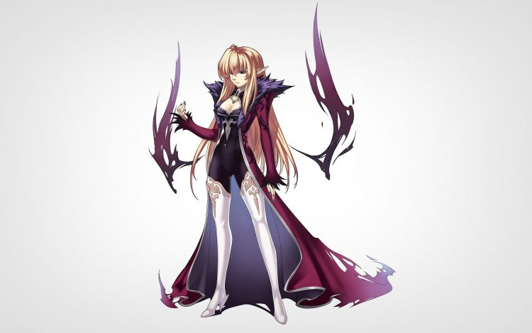 Girl, Blond, Cape, Elf, Gesture