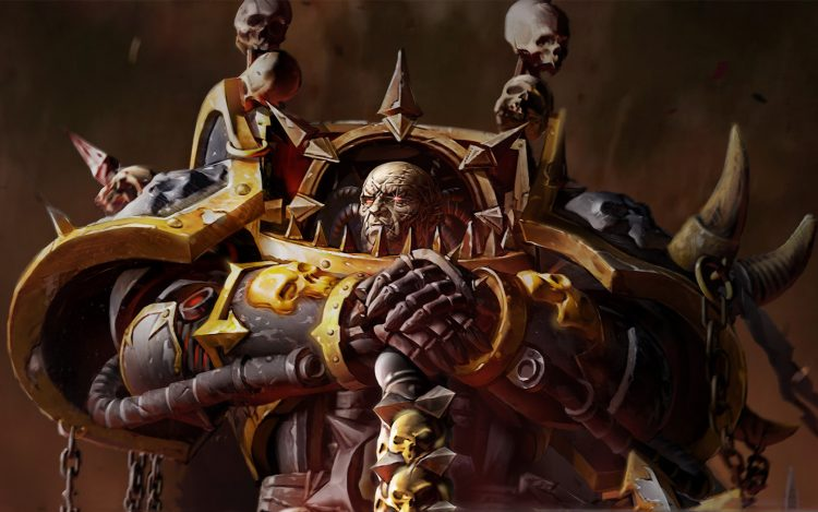 chaos Space Marines oeil étincelle armure