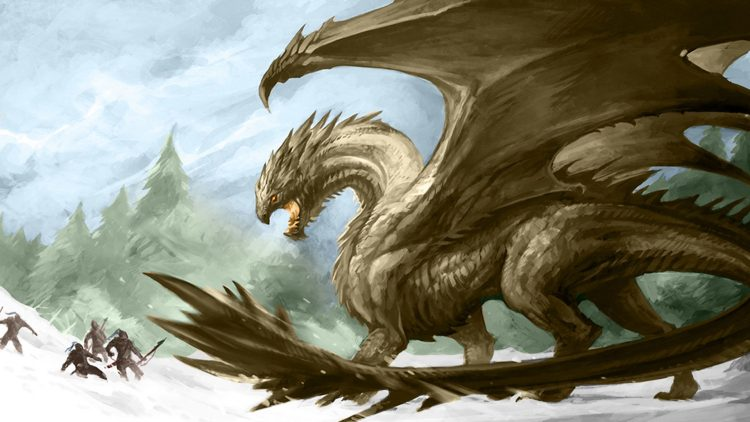 dragon chasse hiver