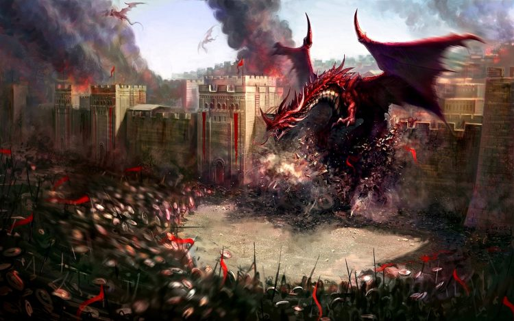 Dragons, Soldats, Destruction, Forteresse